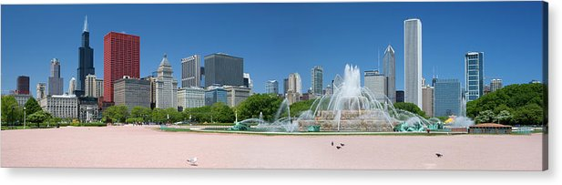 Panoramic Acrylic Print featuring the photograph Usa, Michigan, Chicago, Buckingham by Travelpix Ltd