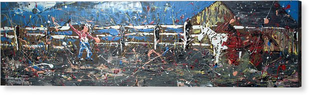 Impressionist Art Acrylic Print featuring the painting Corralled by J R Seymour