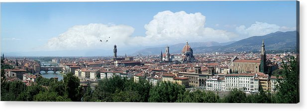 Florence Acrylic Print featuring the digital art The most beautiful city in the world by Harold Shull