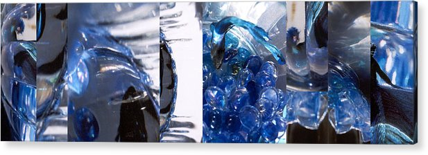 Abstract Acrylic Print featuring the photograph Time Line in Blue by Steve Karol