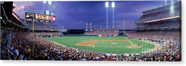 Great American Ball Park Acrylic Print featuring the photograph Houston V Reds by Jerry Driendl