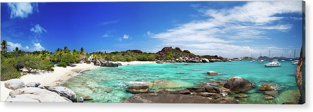 Scenics Acrylic Print featuring the photograph Panorama Of Spring Bay And The Baths by Cdwheatley