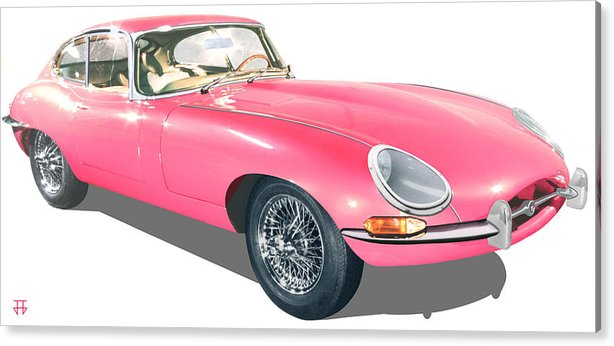 Car Posters Acrylic Print featuring the digital art Beauty In Pink by Jose Gomis