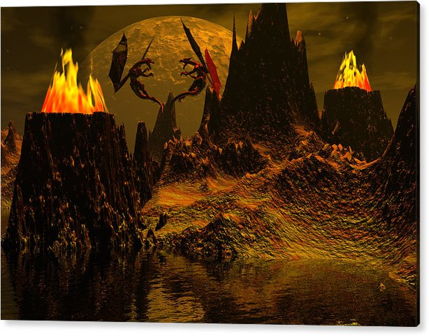 Bryce Acrylic Print featuring the digital art Habitation Of Dragons by Claude McCoy