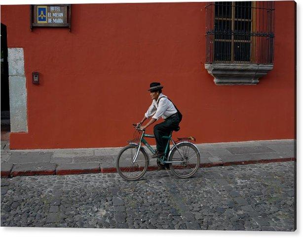Mayan Acrylic Print featuring the photograph Mayan On Bike by Joseph Cosby