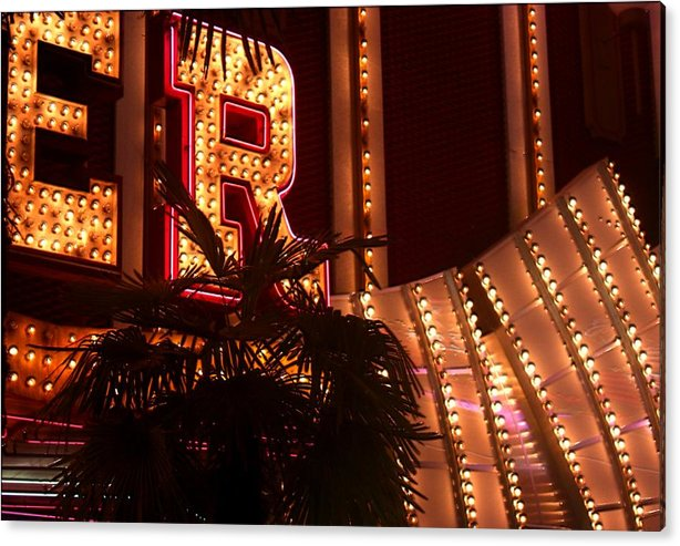 Fremont Street Acrylic Print featuring the photograph Fremont Street Scene Number Five by Bill Buth