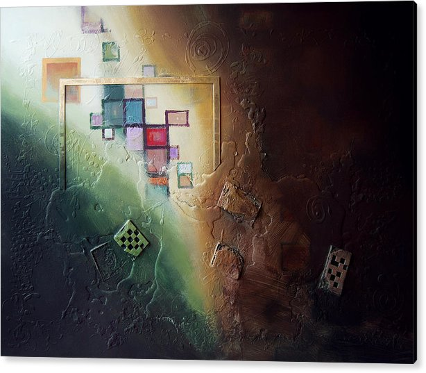 Acrylic Print featuring the painting Reveal by Farhan Abouassali