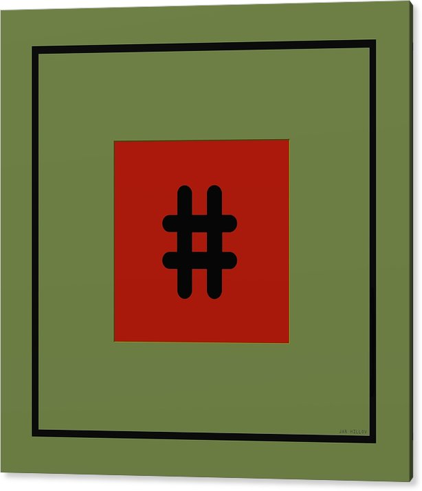 Abstract Acrylic Print featuring the digital art Opposites 1a by Jan Hillov