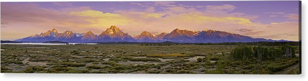 Usa Acrylic Print featuring the photograph Autumn Sunrise Over The Tetons by Fred J Lord