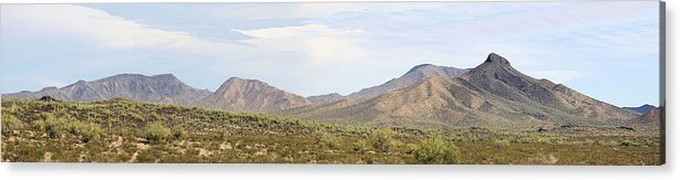 Photography Acrylic Print featuring the photograph Sierra Estrella Mountains Panorama by Sharon Broucek