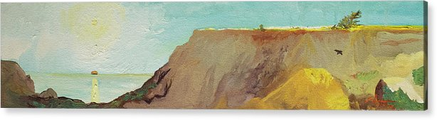 Torrey Pines Acrylic Print featuring the painting A Private Spot by Joseph Demaree