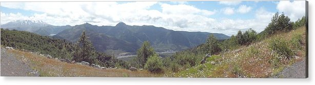 Photos Of Mt St Helens Photographs Photographs Acrylic Print featuring the photograph Mt St Helens Panarama by Christy Leigh