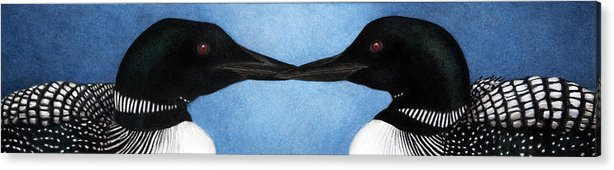 Loons Acrylic Print featuring the painting Loons by Pat Erickson