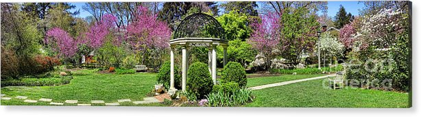 Sayen Acrylic Print featuring the photograph Sayen Garden Dream by Olivier Le Queinec