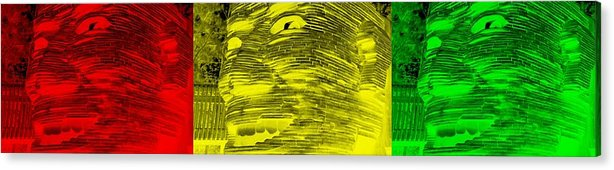 Architecture Acrylic Print featuring the photograph Gentle Giant In Negative Colors by Rob Hans