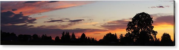 Molalla Acrylic Print featuring the photograph Sunset In Molalla by Angi Parks