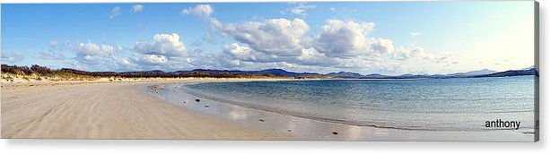 Landscape Acrylic Print featuring the photograph Tramore Beach Donegal by Anthony Gallagher