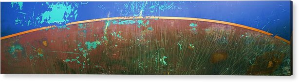 Blue Acrylic Print featuring the photograph Waterline by Ed Zirkle