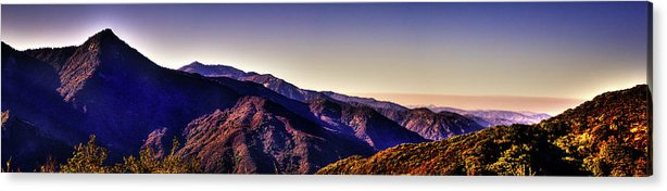 California Acrylic Print featuring the photograph View From Eleven Ranges Overlook by Roger Passman