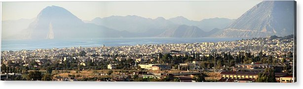 Greece Acrylic Print featuring the photograph 0087236 - Patras by Costas Aggelakis