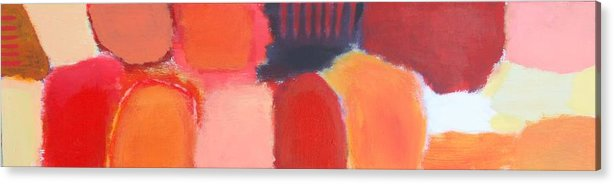 Abstract Acrylic Print featuring the painting Red Combination by Habib Ayat