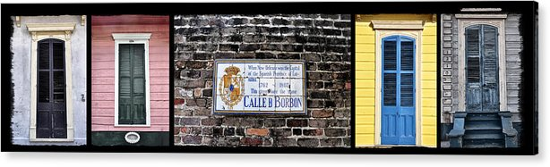Calle D Borbon Acrylic Print featuring the photograph Calle D Borbon by Bill Cannon
