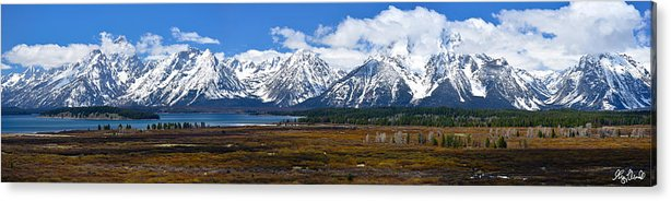 Grand Teton National Park Acrylic Print featuring the photograph Teton 2012 Panorama Le by Greg Norrell