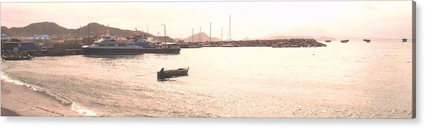 St Kitts Acrylic Print featuring the photograph Basseterre Harbour by Ian MacDonald