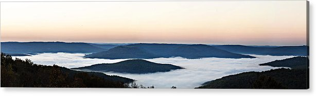 Sunrise Acrylic Print featuring the photograph 0710-0037 Sunrise At Firetower Road by Randy Forrester