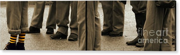 Men Acrylic Print featuring the photograph There Always Has To Be One In A Crowd by Steven Digman