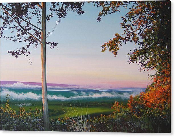 Landscape Acrylic Print featuring the painting September Sky by Hunter Jay
