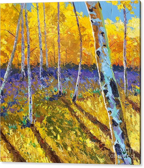 Aspen Acrylic Print featuring the painting All In The Golden Afternoon by Hunter Jay
