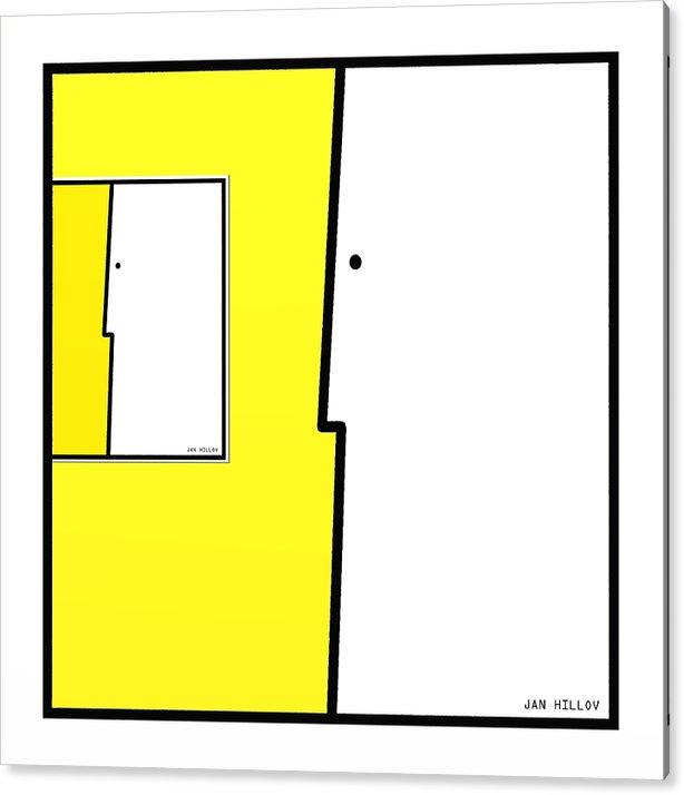Digital Art Acrylic Print featuring the digital art SquareFaces 5 by Jan Hillov
