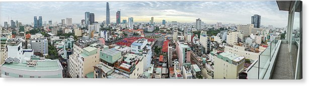 Ho Chi Minh City Acrylic Print featuring the photograph Panorama Of Ho Chi Minh City by By Thomas Gasienica