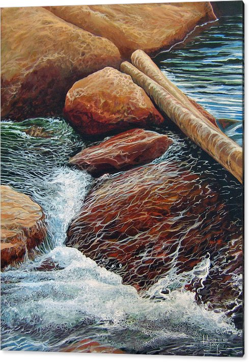 Stream Acrylic Print featuring the painting The Crossing by Hunter Jay