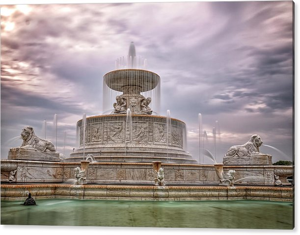 Morning at the Fountain by Pat Eisenberger