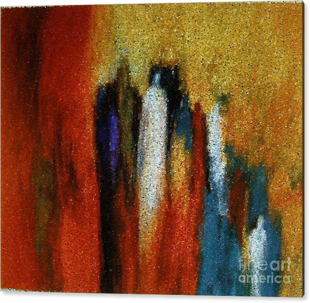 Abstract Acrylic Print featuring the painting Spirits Gathered by Don Phillips