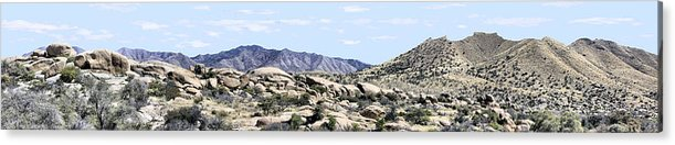 Photography Acrylic Print featuring the photograph Dragoon Mountains Panorama by Sharon Broucek