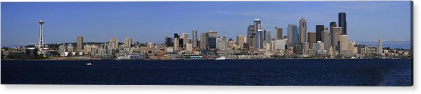 3scape Photos Acrylic Print featuring the photograph Seattle Panoramic by Adam Romanowicz