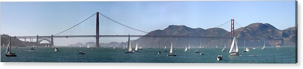 Fleet Week Acrylic Print featuring the photograph San Francisco Bay by Gary Lobdell