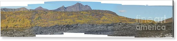 Landscape Acrylic Print featuring the photograph On The Matanuska Glacier by Ron Bissett