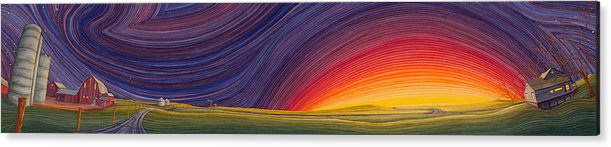 Great Plains Art Acrylic Print featuring the painting Powhatten II by Scott Kirby