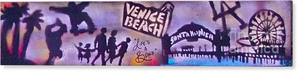 Graffiti Acrylic Print featuring the painting Venice Beach To Santa Monica Pier by Tony B Conscious