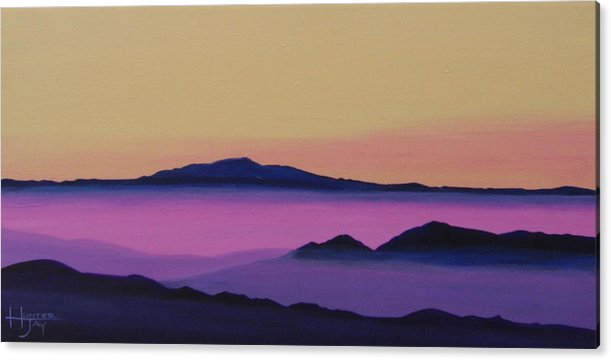 Mountains Acrylic Print featuring the painting Early Morning by Hunter Jay