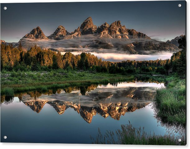 Hazy Reflections at Scwabacher Landing by Ryan Smith