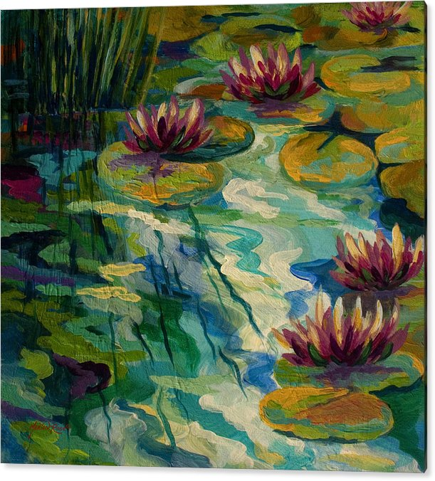 Lily Pond II by Marion Rose