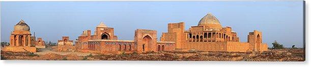 Tranquility Acrylic Print featuring the photograph Isa Khan Tombs Of Makli by Nadeem Khawar