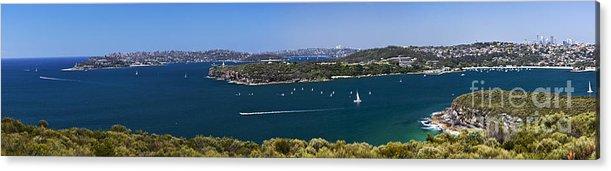 Sydney Harbour Panorama Acrylic Print featuring the photograph Sydney Harbour panorama by Sheila Smart Fine Art Photography