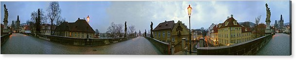 Charles Bridge Photographs Acrylic Print featuring the photograph Charles Bridge 360 by Gary Lobdell