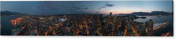 Pano Acrylic Print featuring the photograph Vancouver Skyline #2 by Anna Beaudry